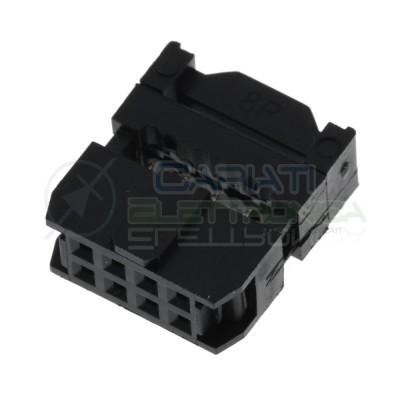 2 pezzi di Connettore IDC femmina 8 Poli Pin per Cavo Piatto Flat Cable Generico