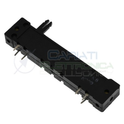 Potenziometro slider stereo a slitta lineare 90mm 47kohm 47k Mixer Audio 6 PinCosocomi