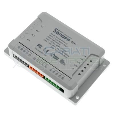 Sonoff 4ch R2 Centrale domotica con 4 interruttori pulsanti WiFi comando APP Sonoff