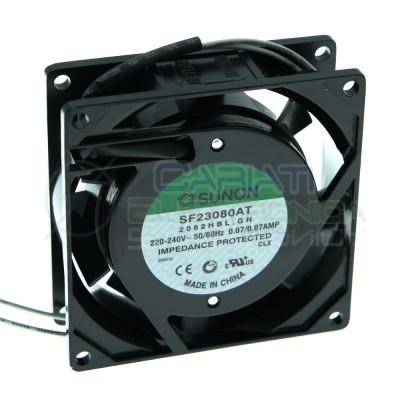 Ventola SUNON 80x80x25mm 220V 230Vac 0.07A 13.5W SF23080AT Dissipazione VentilazioneSunon