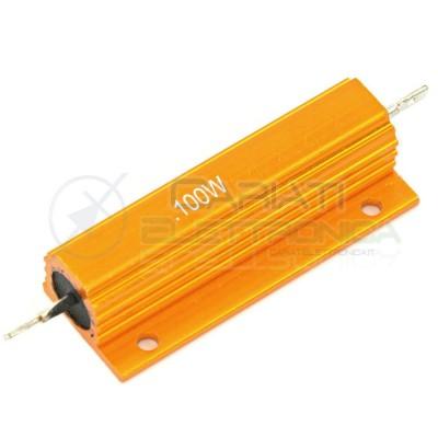 Resistor axial 100W 100Watt 0,1 ohm 0,1ohm in aluminium housing wire-woundGenerico
