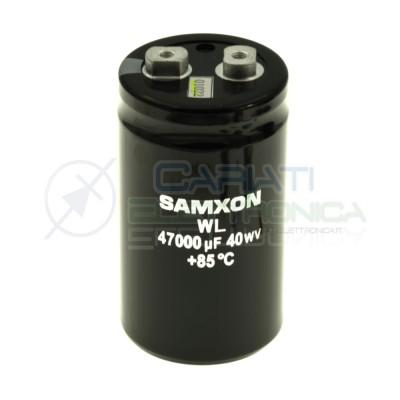 Condensatore elettrolitico 47000uF 47000 uF 40V 85°C snap in 90x51mm Samxon Samxon