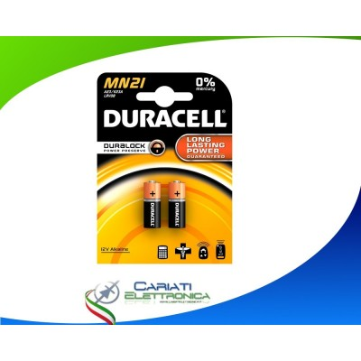 2 PILE BATTERIE DURACELL MN21 A23 K23A LRV08 DURACELL 12 V Alcaline Duracell