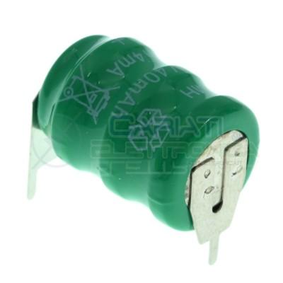 Batteria Tampone Pc Ricaricabile NI-Mh 3,6V 40mAh a Saldare Per Circuiti Stampati con terminali Extracell 1,29€