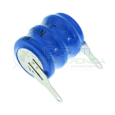BATTERIA Tampone Pc RICARICABILE NI-CD 3,6V 60mAh a Saldare Per Circuiti Stampati con terminali Extracell 1,29€