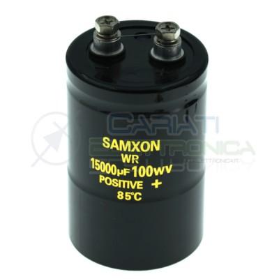 Condensatore elettrolitico 15000uF 15000 uF 100V 85°C snap in 80x51mm Samxon Samxon