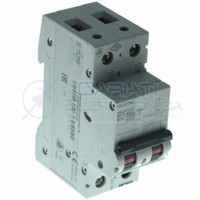Siemens interruttore magnetotermico Curva B B10 10A 5SL6510-6 1P+N 6KA 2 poliSiemens