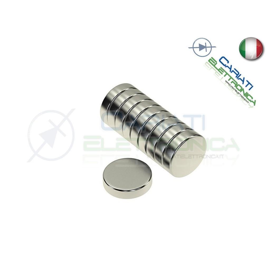 50 Pezzi Calamita Magnete Neodimo 10mm 10X3 mm Potenti Fimo Ceramica Bomboniere Generico