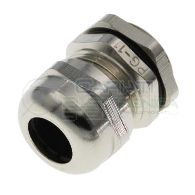 Boccola pressacavo passacavo in metallo per cavi 10/5 mm2 Diametro base 18mm Generico