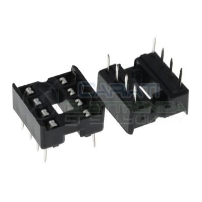 10 Pezzi Zoccolo Doppia Molla DIP 8 Pin per circuiti integrati DIL DIP-8 Zoccoli