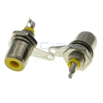 2 pcs Socket RCA for panel mounting YellowGenerico
