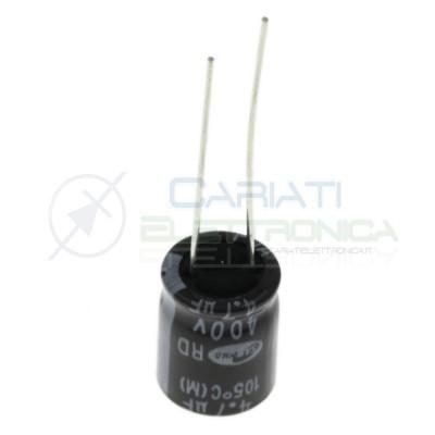 5 PEZZI Condensatore elettrolitico 4,7uF 400V 12x12,5mm 85°C SAMWHA 4,7 uFSamwha