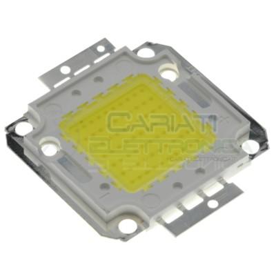 Chip power LED 70W Bianco Freddo 6000K alta Luminosità ricambio faro Generico