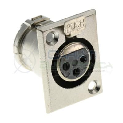 1 Pezzo connettore presa XLR Canon Microfonica 3 Poli Pin da PannelloGenerico