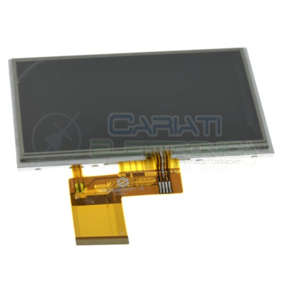 "Display a colori TFT LCD 4.3"" 4.3 pollici 4.3in 480x272 pixel con Touch 40 pin"