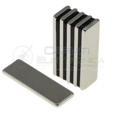 10 pezzi calamita magnete neodimo 30x10x2mm Potenti Fimo ceramica bomboniere Generico