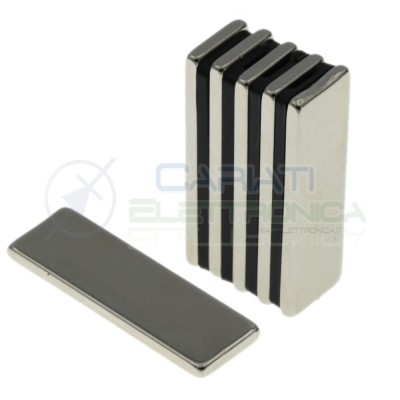 50 pezzi calamita magnete neodimo 30x10x2mm Potenti Fimo ceramica bomboniere Generico