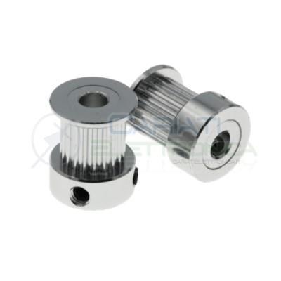2 pezzi Puleggia GT2 foro Ø 5mm - pulegge 20 denti - pulley 20 teeth - 3D Reprap Prusa Generico