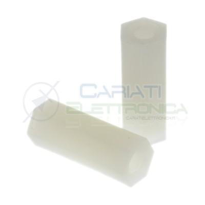 10 Pezzi Distanziale per viti esagonale M3 H15mm in Plastica F/F Supporto Pcb Perno in Nylon Generico