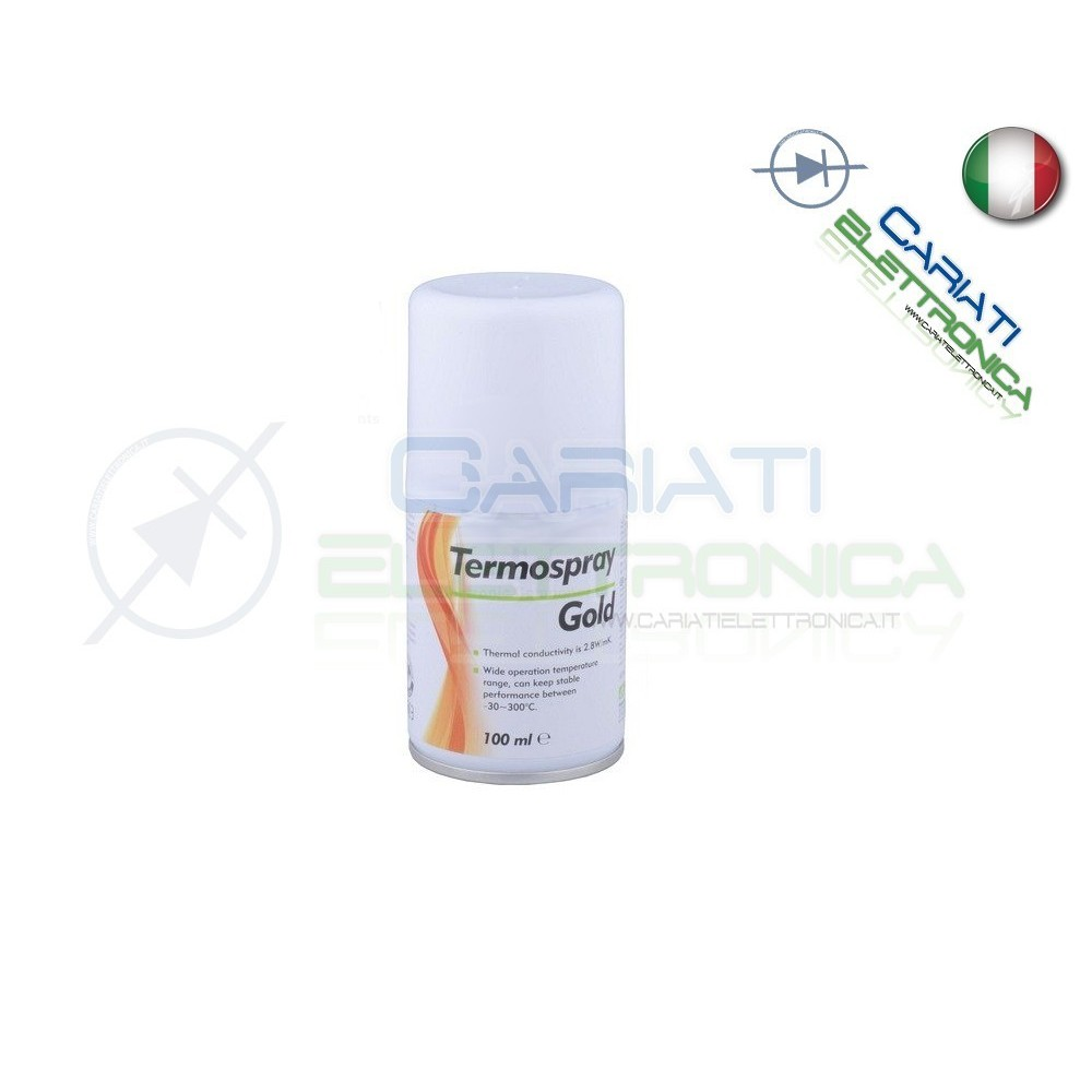 Pasta termoconduttiva termica Spray Gold 100ml  8,90 €