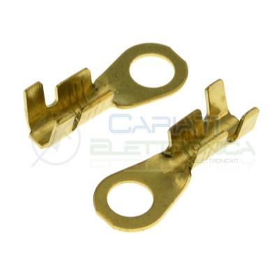 10 pezzi Capicorda ad occhiello M3 1-2,5mmq foro 3.2mm non isolati a crimpareBM Group