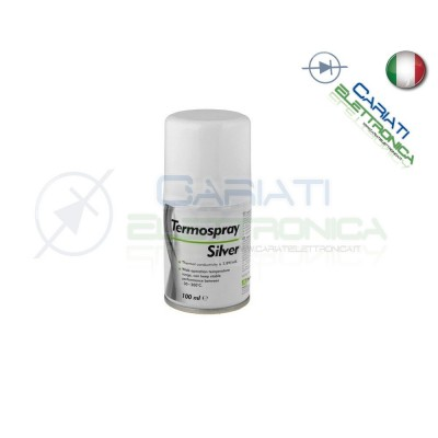 Pasta termoconduttiva termica Spray Silver 100ml 9,00 €