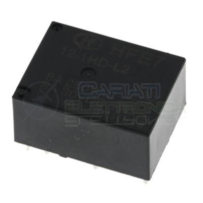 Relè Bistabile Hongfa HFE7 12-1HD-L2 DPST Bobina 12V corrente max 8A HONGFA RELAY