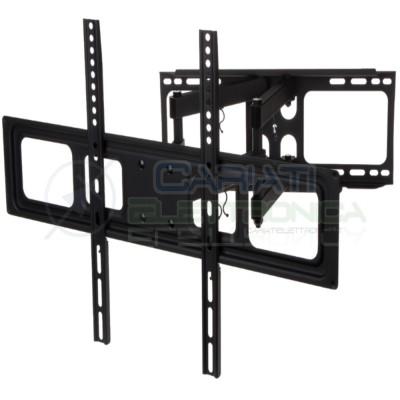 """SUPPORTO STAFFA PARETE MURO TV LCD TFT LED CURVA DA 32 A 55 POLLICI 32"""" a 55"""""""