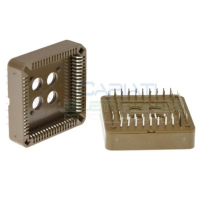 Zoccolo Adattaore 68 Pin per circuiti integrati Plcc Smd in Tht Dil Dip Passo 2.54mm Generico