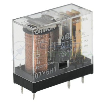 Relè OMRON G2R-1 bobina da 12Vdc 10A 250Vac 10A 30Vdc SPDT Omron 3,29€