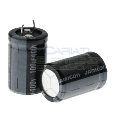 Capacitor electrolytic 100uF 100 uF 400V 85°C 35x22mm pitch 10mmJamicon