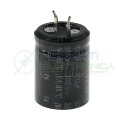 1 Pezzo Condensatore elettrolitico 100uF 100 uF 385V 85°C 35x22mm Generico