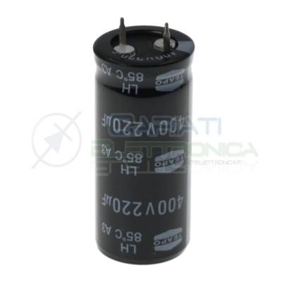 Condensatore elettrolitico Teapo Snap-in 220 uF 220uF 400V 85°C 22x50mm Teapo