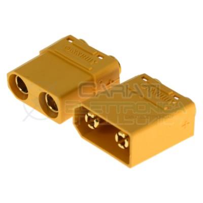 Coppia connettori maschio femmina xt90 xt-90 batteria drone litio lipo modellismo Amass