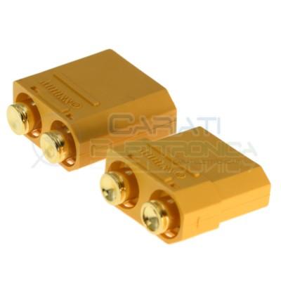 Coppia connettori maschio femmina xt90 xt-90 batteria drone litio lipo modellismo Amass 3,49€
