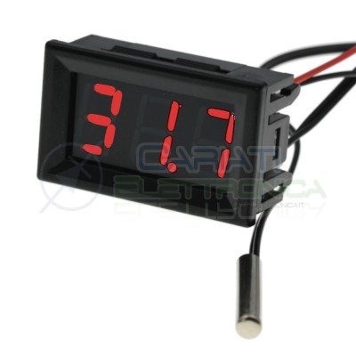 Termometro digitale da pannello Display Rosso 12V -20 a +100℃ Ntc auto camper Generico