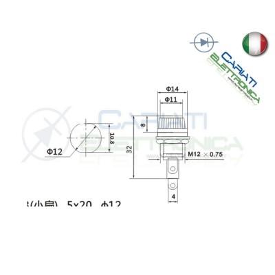 10 Pezzi Portafusibile 5X20 per fusibili vetro ceramico Porta Fusibile  5,00€