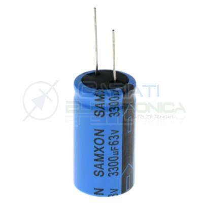 Condensatore elettrolitico Samxon 33000 uF 3300uF 63V 85°C 22x40mm Samxon