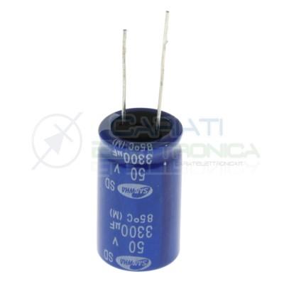 Condensatore elettrolitico Samwha 33000 uF 3300uF 50V 85°C 18x32mm Samwha
