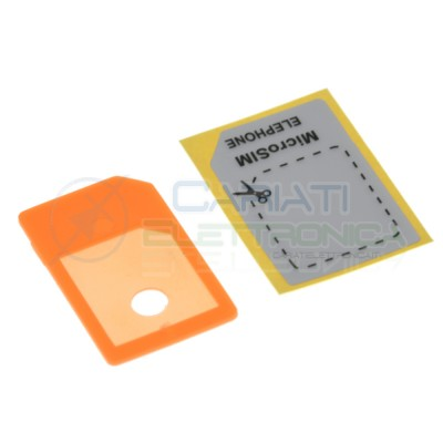 2 Pezzi adattatore Micro Sim Generico 0,89€