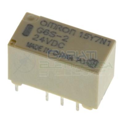 Relè doppio 2 scambio OMRON G6S-2 24V DC 0.5A 125V 24V Dpdt Omron