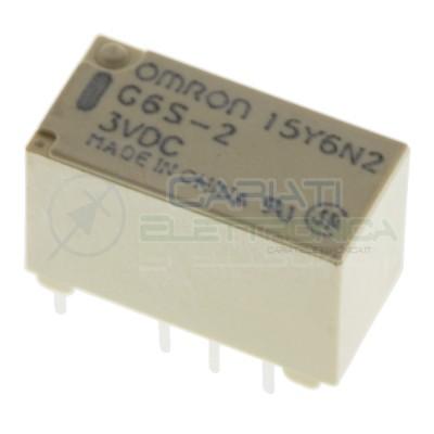 Relè doppio 2 scambio OMRON G6S-2 3V DC 0.5A 125V Dpdt Omron