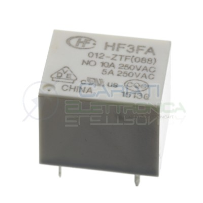 Relay Hongfa HF3FA-012-ZST coil voltage12V Dc Spdt out 10A 250Vac 30VdcHONGFA RELAY