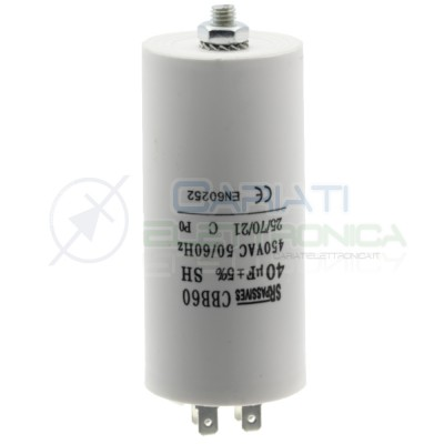 Condensatore elettrico 40 uF 40uF 450V Capacitore avvio motore pompa elettropompaSR Passive