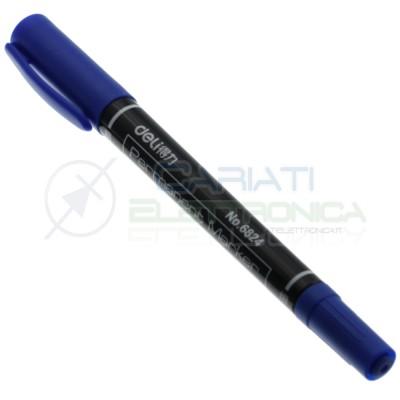 Penna Pennarello blu per circuiti stampati basetta ramata vetronite bachelite Generico