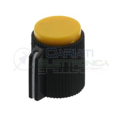 Manopola Gialla per Potenziometro Audio asse 6mm Pomello Giallo Knob Fender Generico