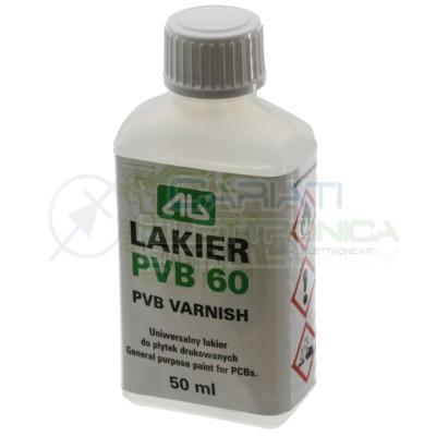 Vernice Trasparente Liquida Per Pcb Circuiti 50ml Pvb60 AgThermopasty