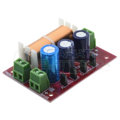 Filtro Crossover Audio Hi-Fi 2 Vie 400W 4-16 ohm frequenza regolabile Generico