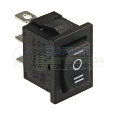 10 pezzi Interruttore Deviatore a Bilanciere ON OFF ON 3 PIN 250V 6A 20mm SPDT