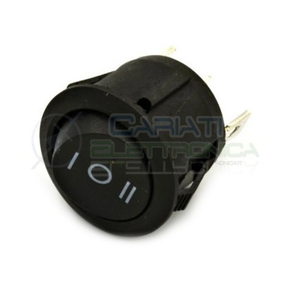 5 pezzi Interruttore deviatore Rocket ON OFF ON 3 PIN 250V 6A 20mm SPDT Generico